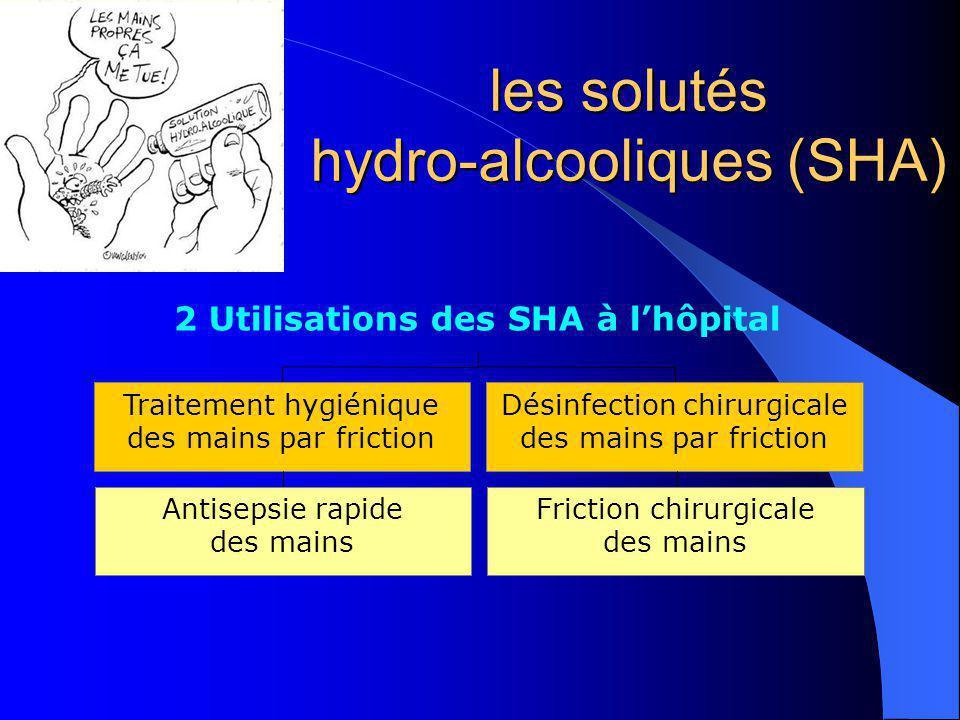 les solutés hydro-alcooliques (SHA)