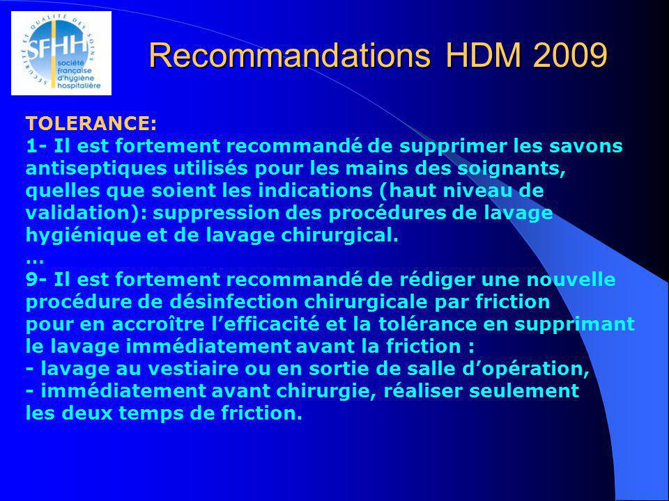 Recommandations HDM 2009 TOLERANCE: