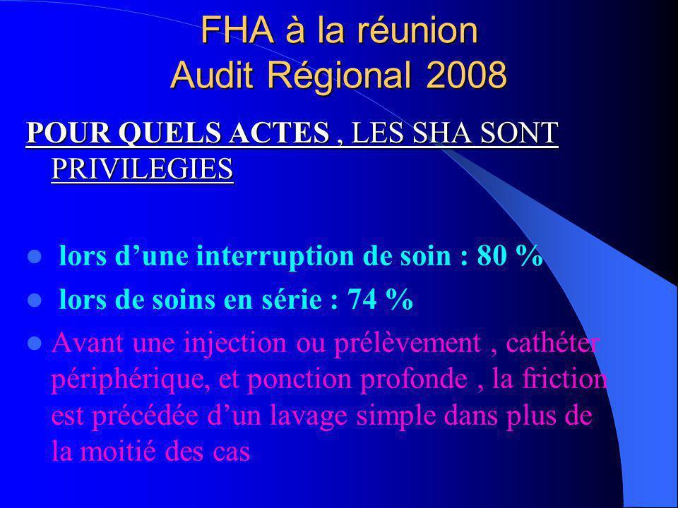 FHA à la réunion Audit Régional 2008