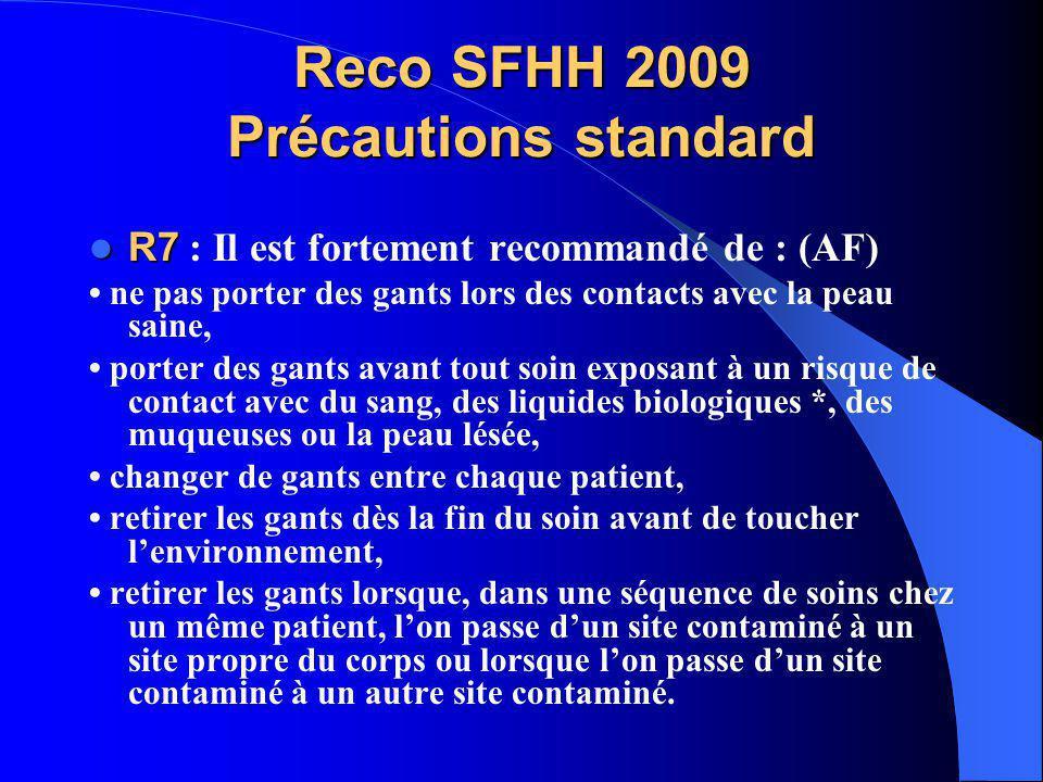 Reco SFHH 2009 Précautions standard