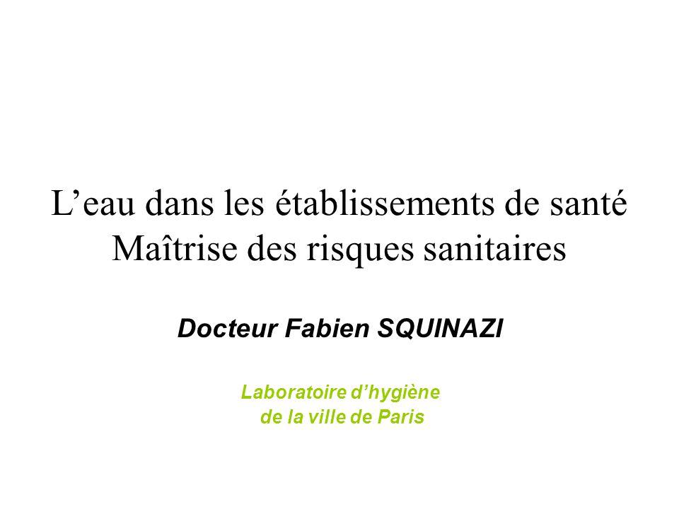 Docteur Fabien SQUINAZI Laboratoire d'hygiène