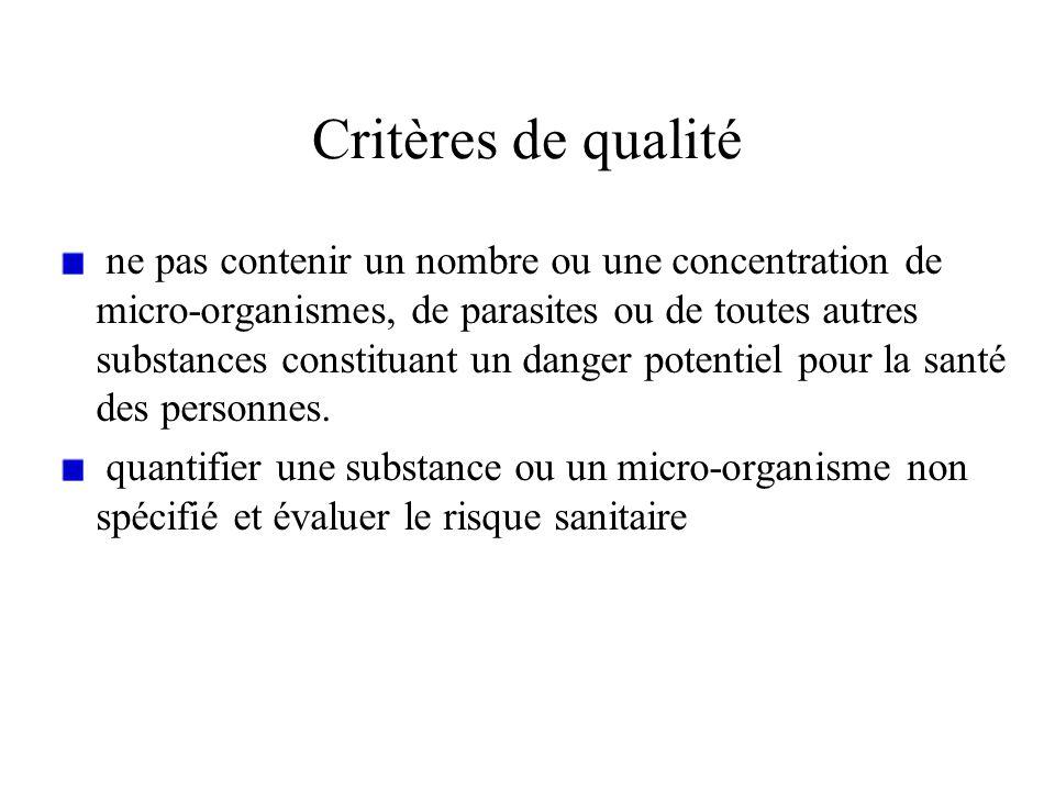 Critères de qualité