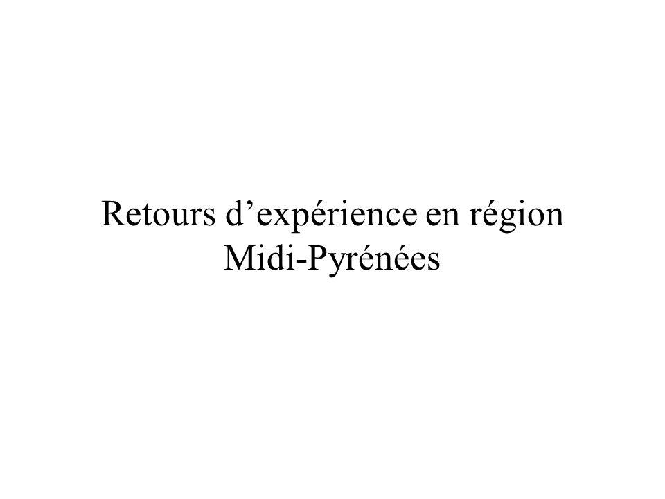 Retours d'expérience en région Midi-Pyrénées