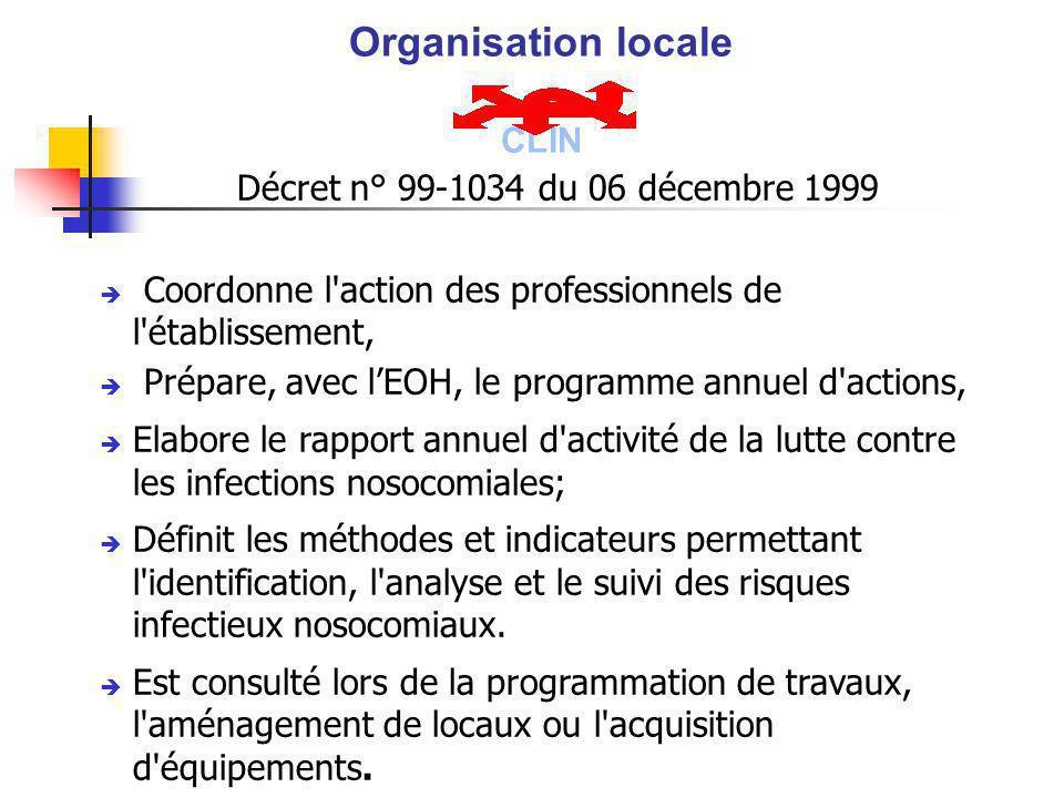 Organisation locale CLIN Décret n° 99-1034 du 06 décembre 1999
