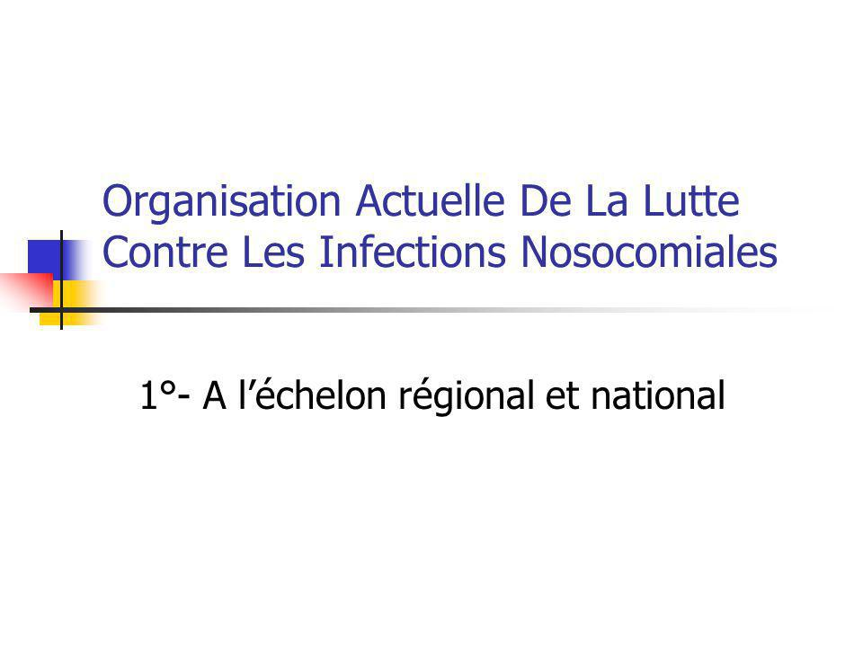 Organisation Actuelle De La Lutte Contre Les Infections Nosocomiales