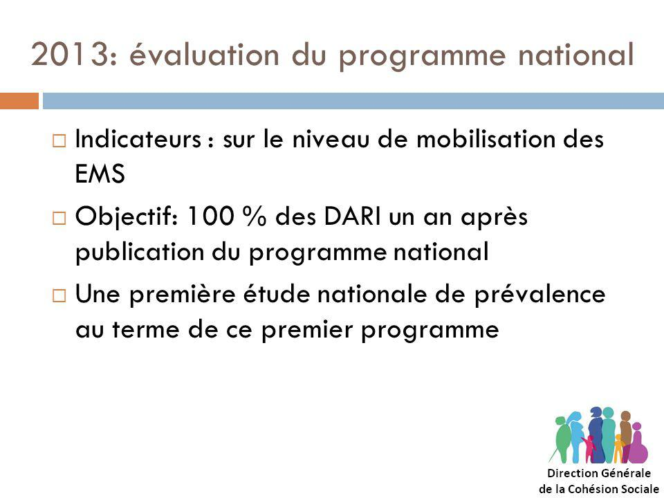 2013: évaluation du programme national