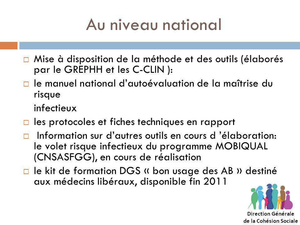Au niveau national Mise à disposition de la méthode et des outils (élaborés par le GREPHH et les C-CLIN ):