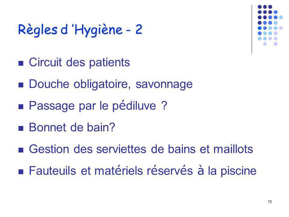 Règles d 'Hygiène - 2 Circuit des patients
