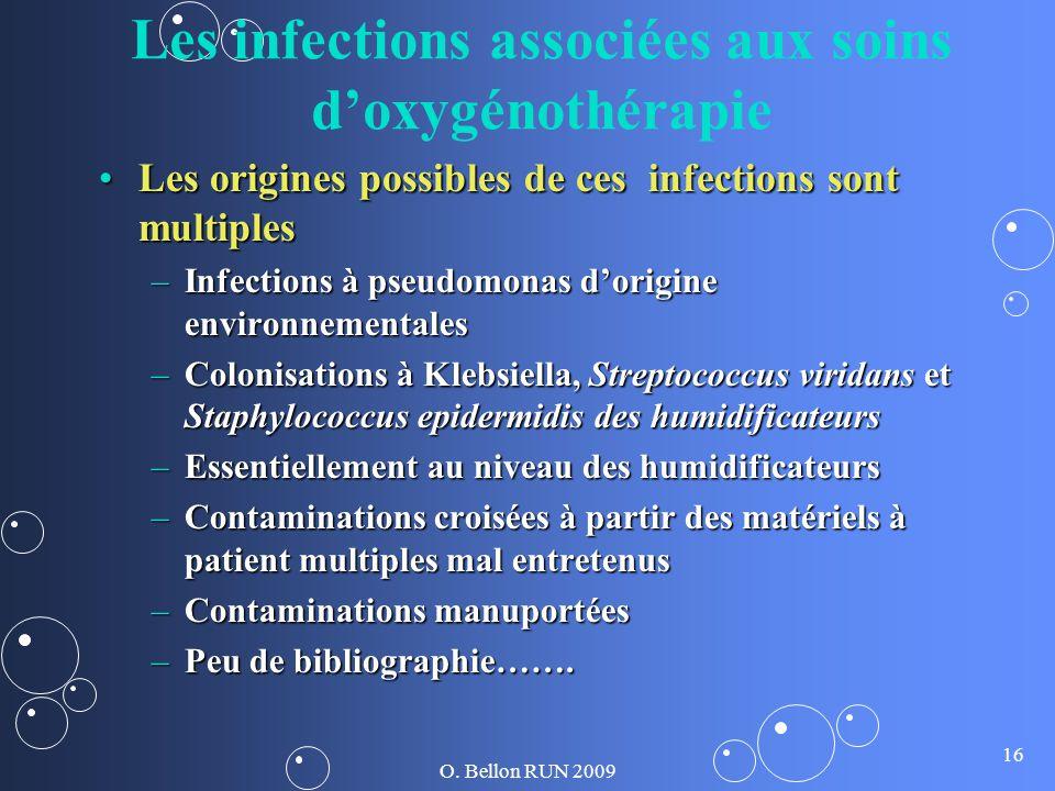 Les infections associées aux soins d'oxygénothérapie