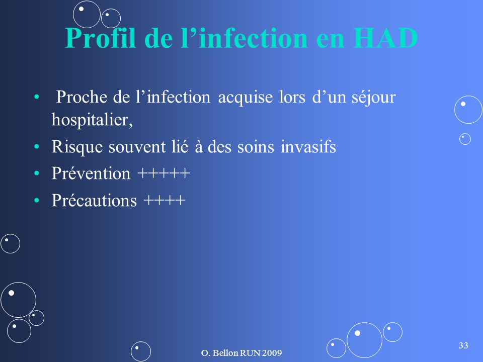 Profil de l'infection en HAD