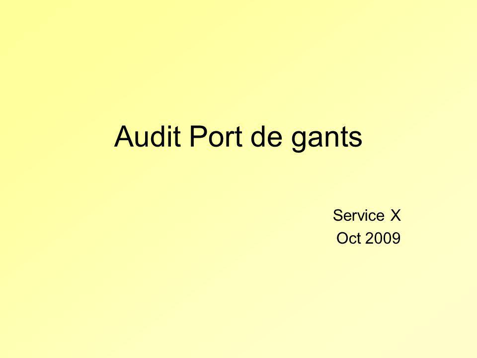 Audit Port de gants Service X Oct 2009