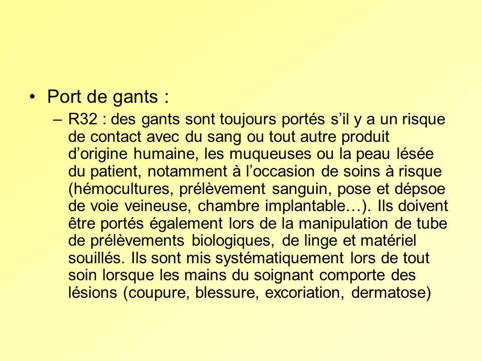 Port de gants :