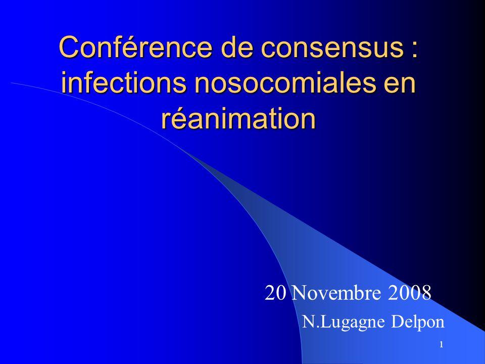 Conférence de consensus : infections nosocomiales en réanimation