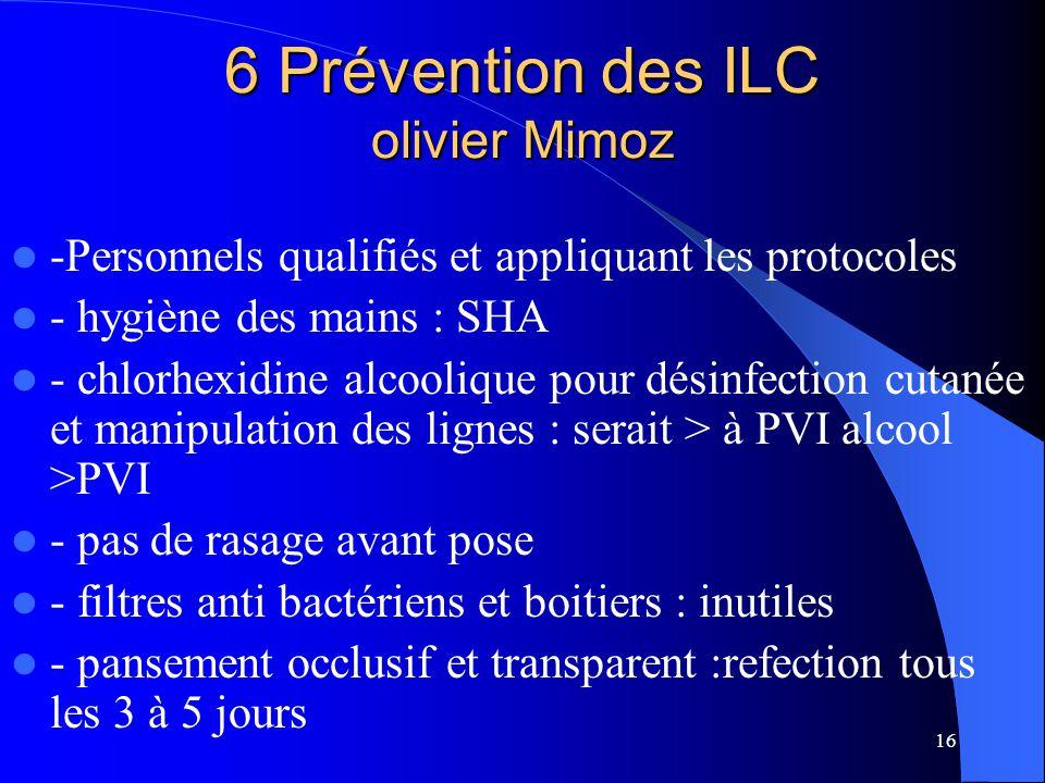 6 Prévention des ILC olivier Mimoz