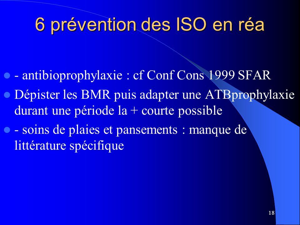 6 prévention des ISO en réa