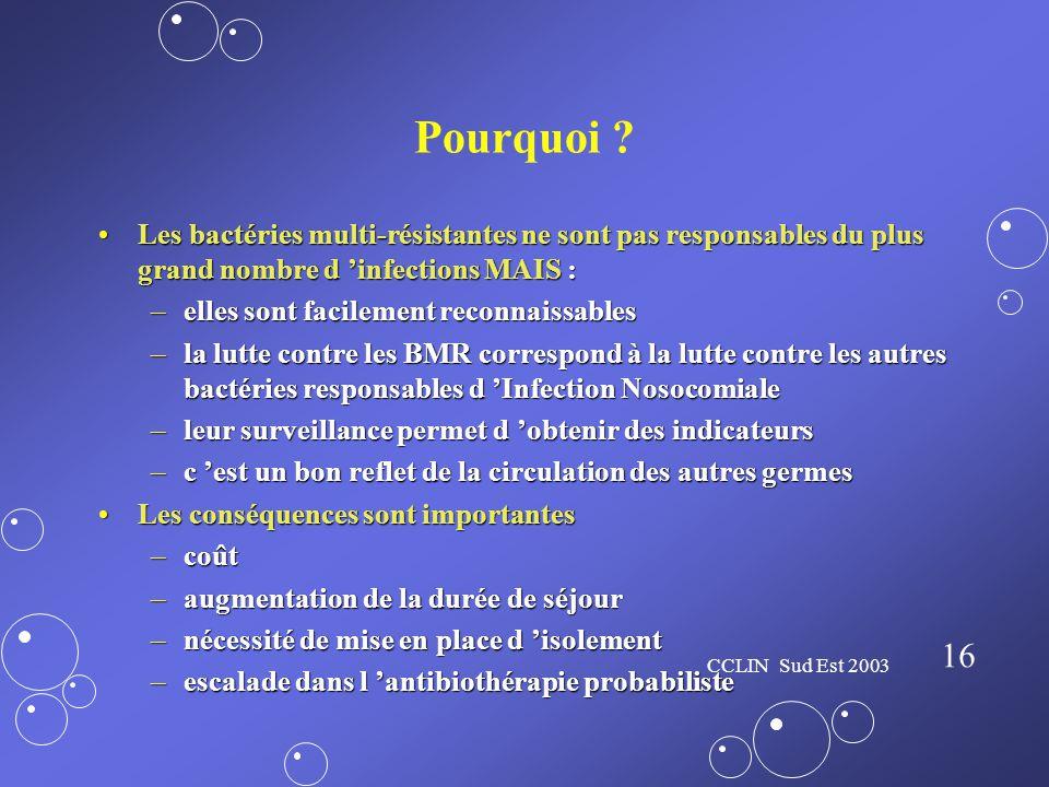 Pourquoi Les bactéries multi-résistantes ne sont pas responsables du plus grand nombre d 'infections MAIS :