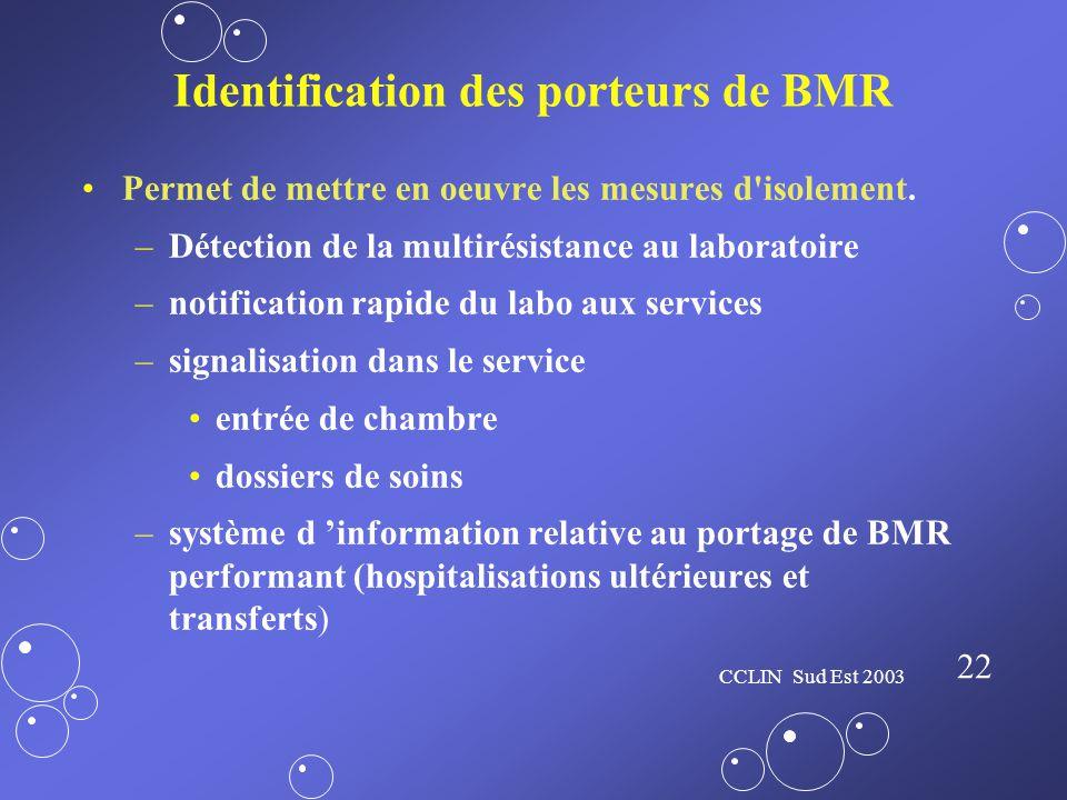 Identification des porteurs de BMR