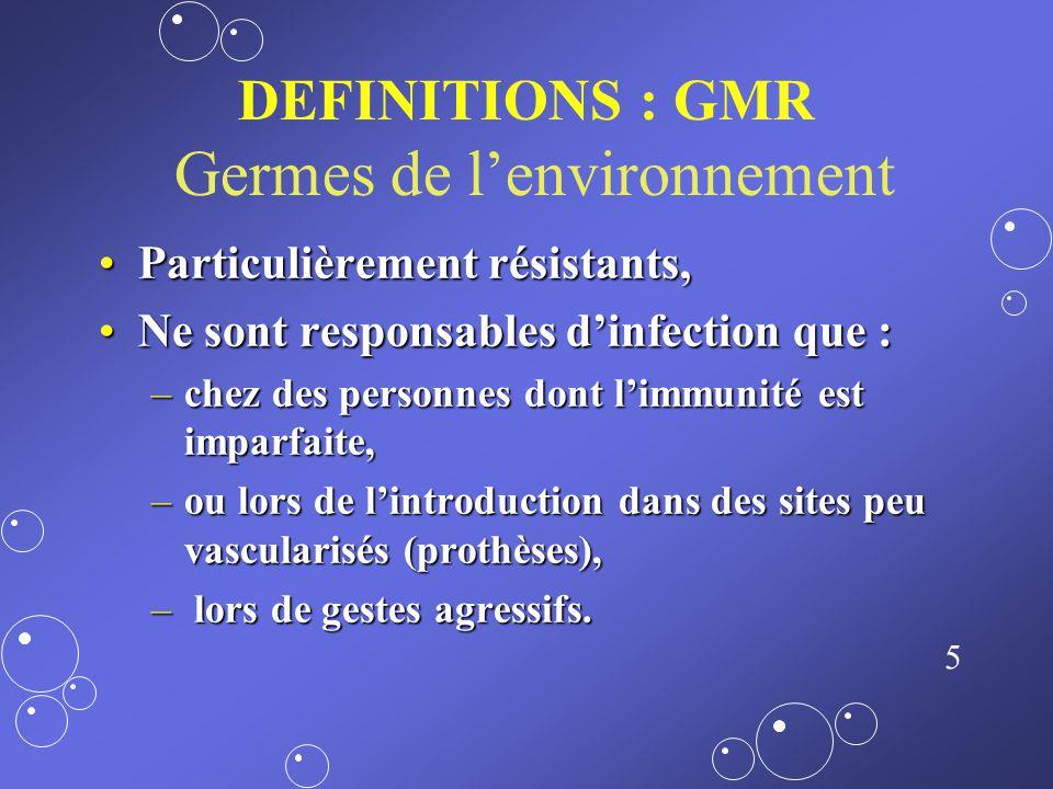 DEFINITIONS : GMR Germes de l'environnement