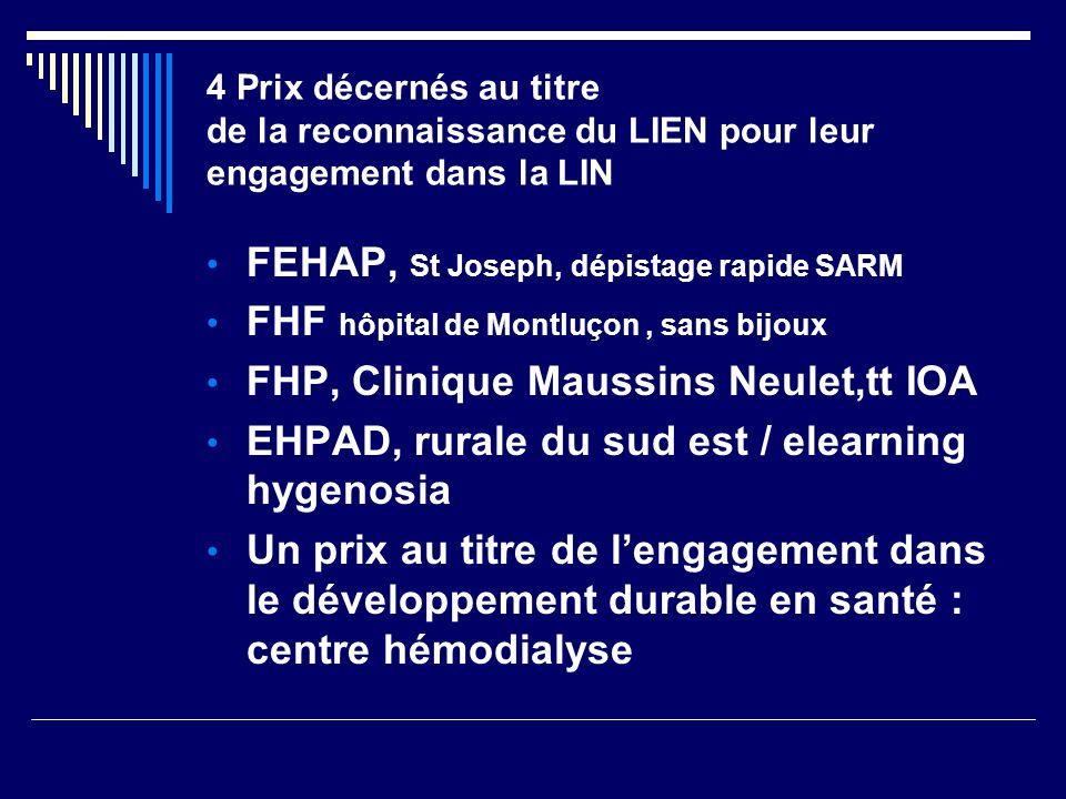FEHAP, St Joseph, dépistage rapide SARM