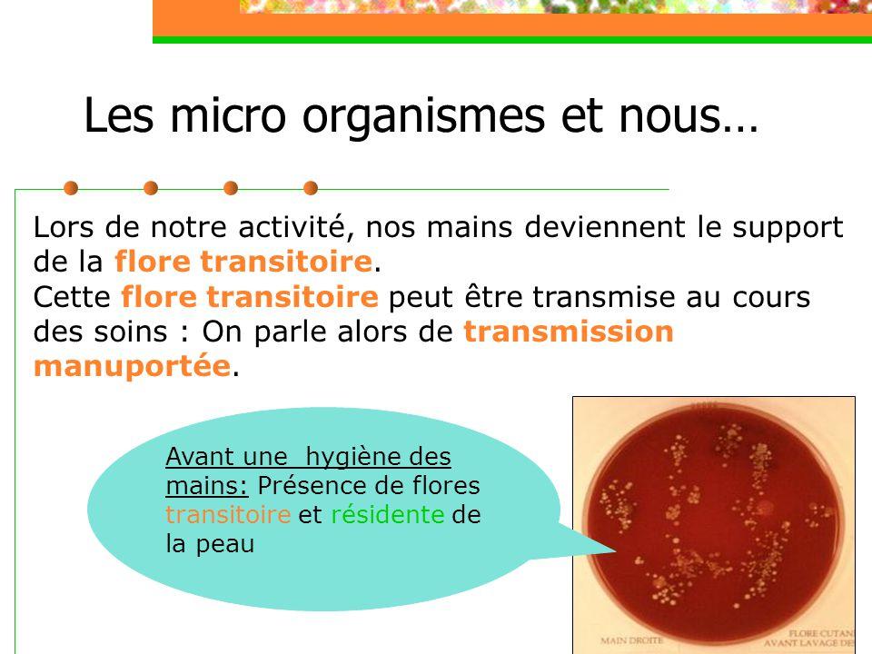 Les micro organismes et nous…