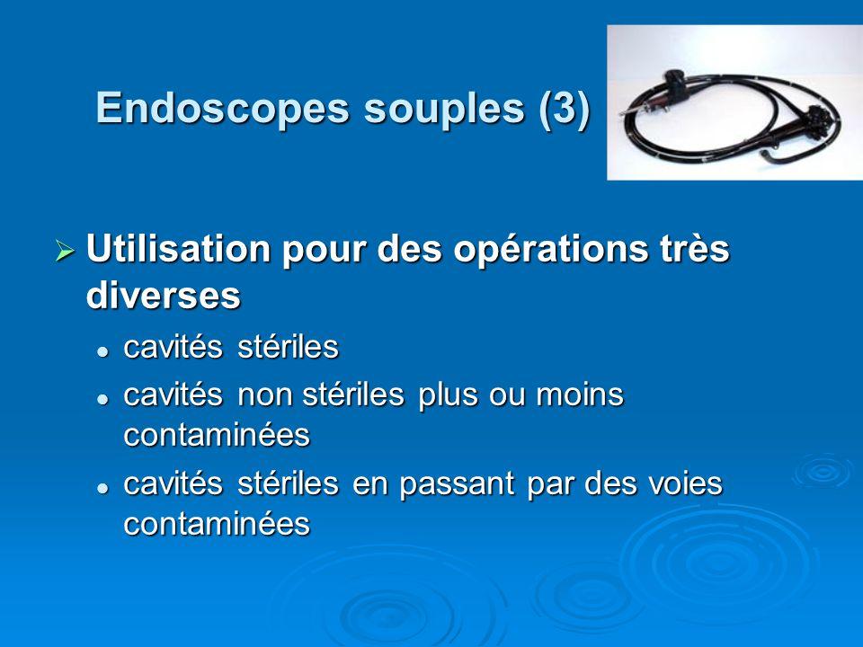 Endoscopes souples (3) Utilisation pour des opérations très diverses