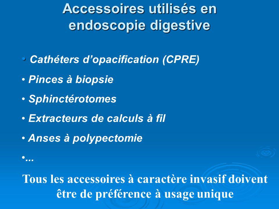 Accessoires utilisés en endoscopie digestive