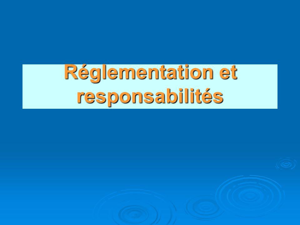 Réglementation et responsabilités
