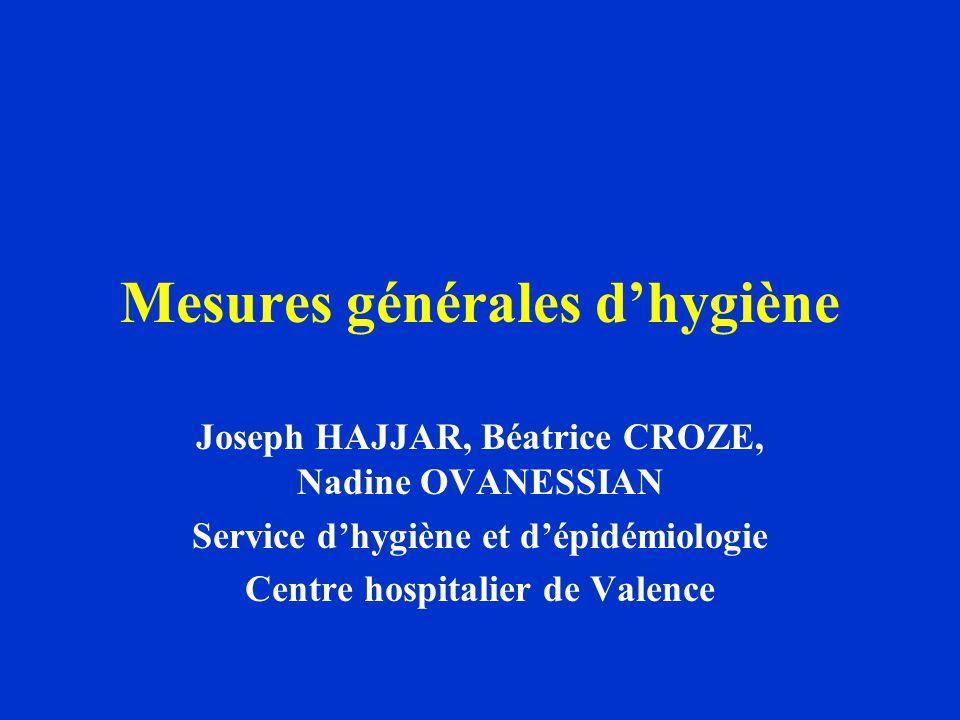 Mesures générales d'hygiène