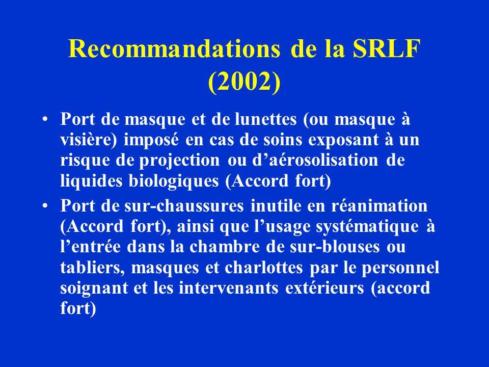 Recommandations de la SRLF (2002)