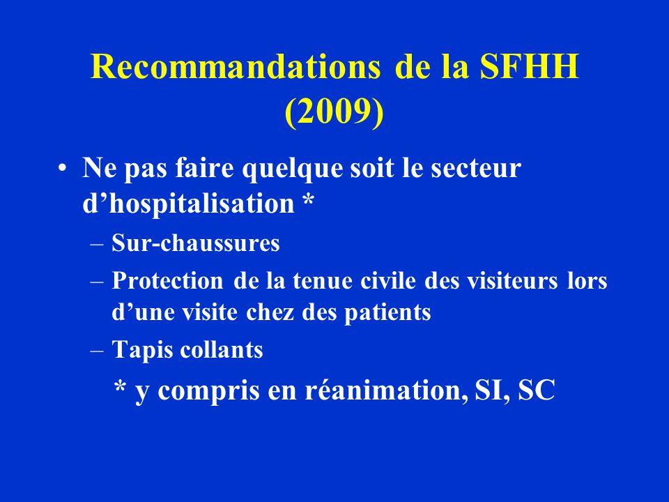 Recommandations de la SFHH (2009)