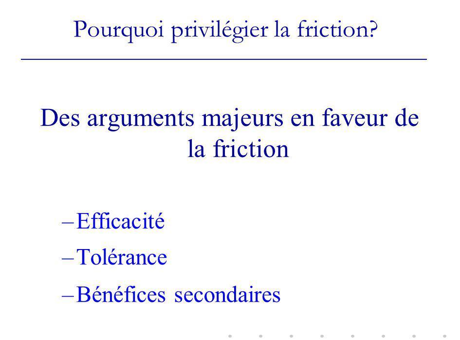 Pourquoi privilégier la friction