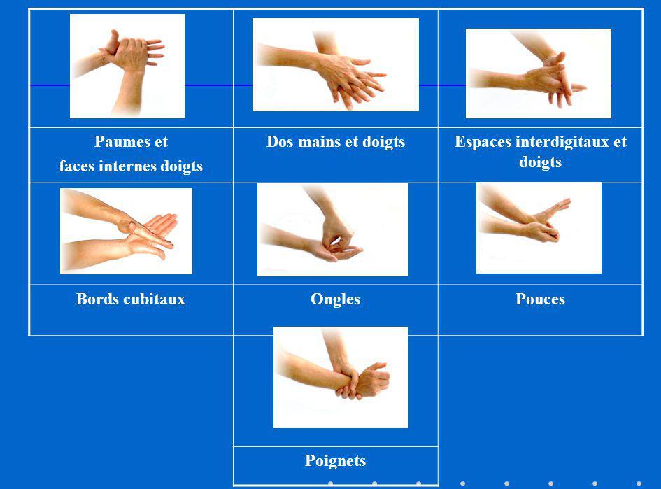 Espaces interdigitaux et doigts