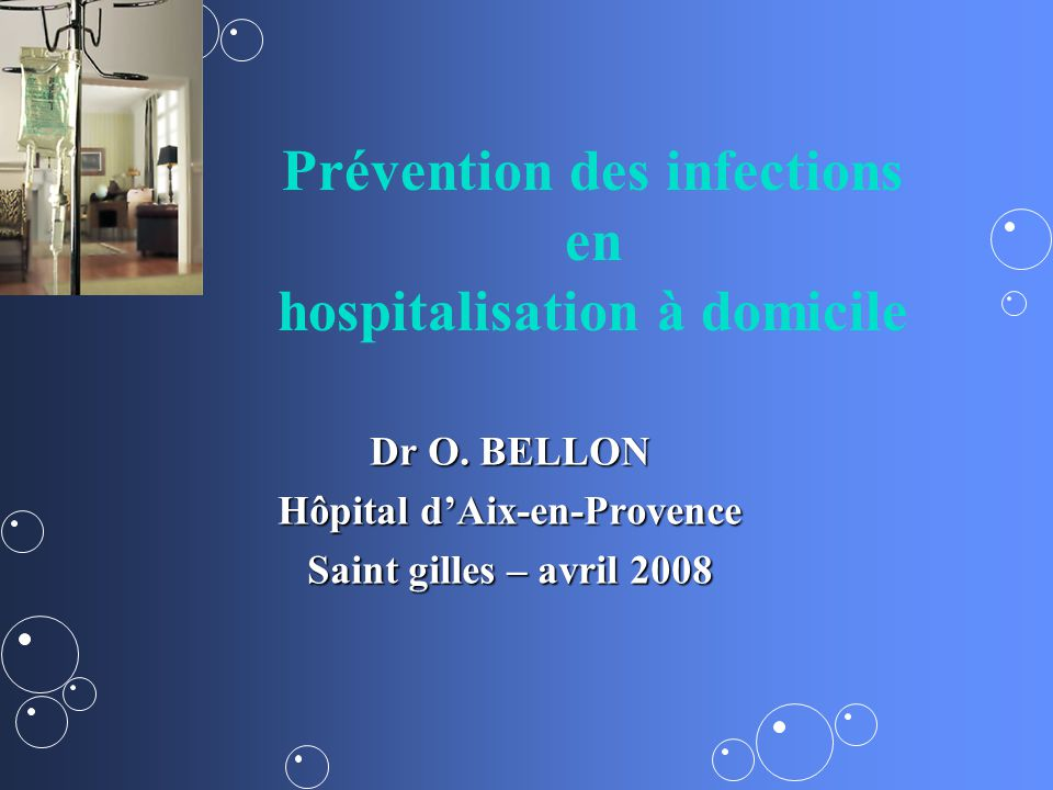 Prévention des infections en hospitalisation à domicile
