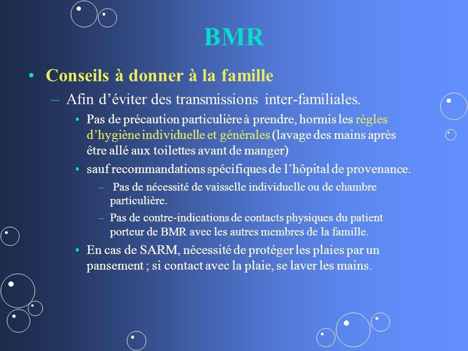 BMR Conseils à donner à la famille