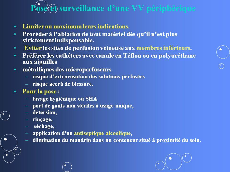 Pose et surveillance d'une VV périphérique