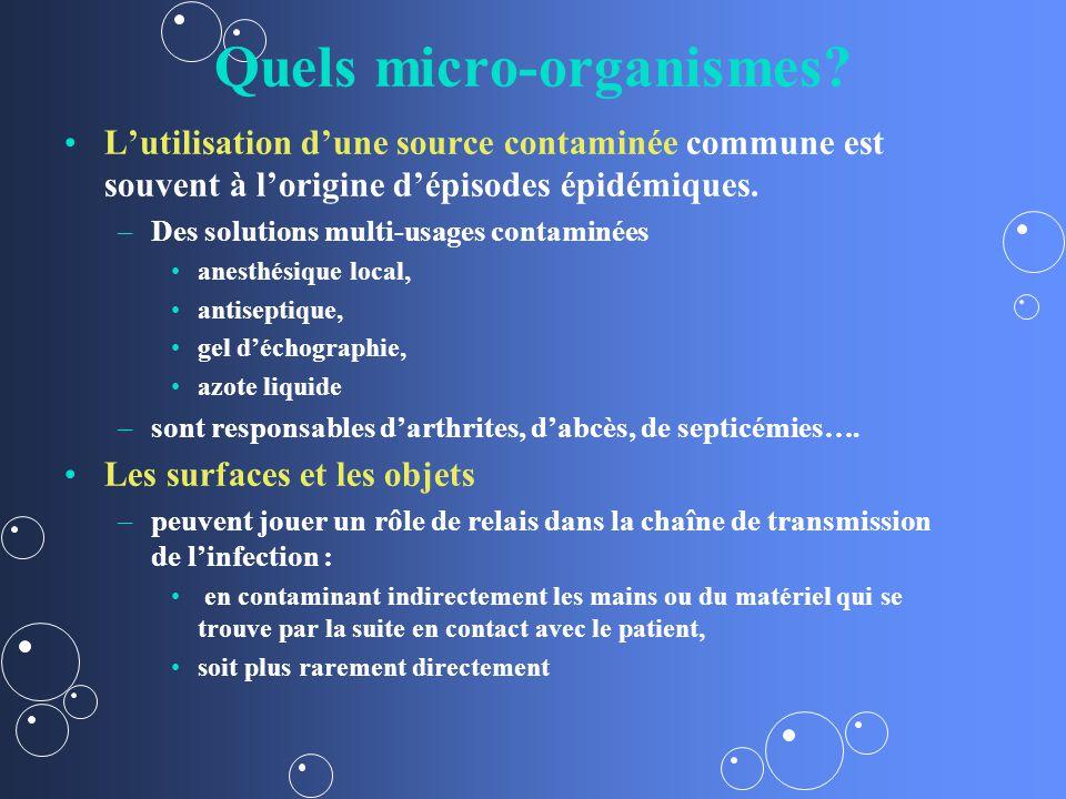 Quels micro-organismes