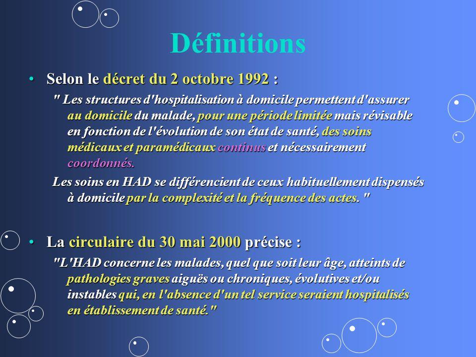 Définitions Selon le décret du 2 octobre 1992 :
