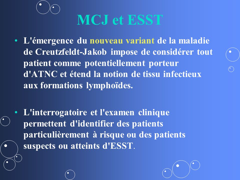 MCJ et ESST