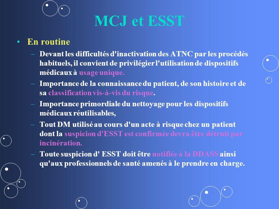 MCJ et ESST En routine.