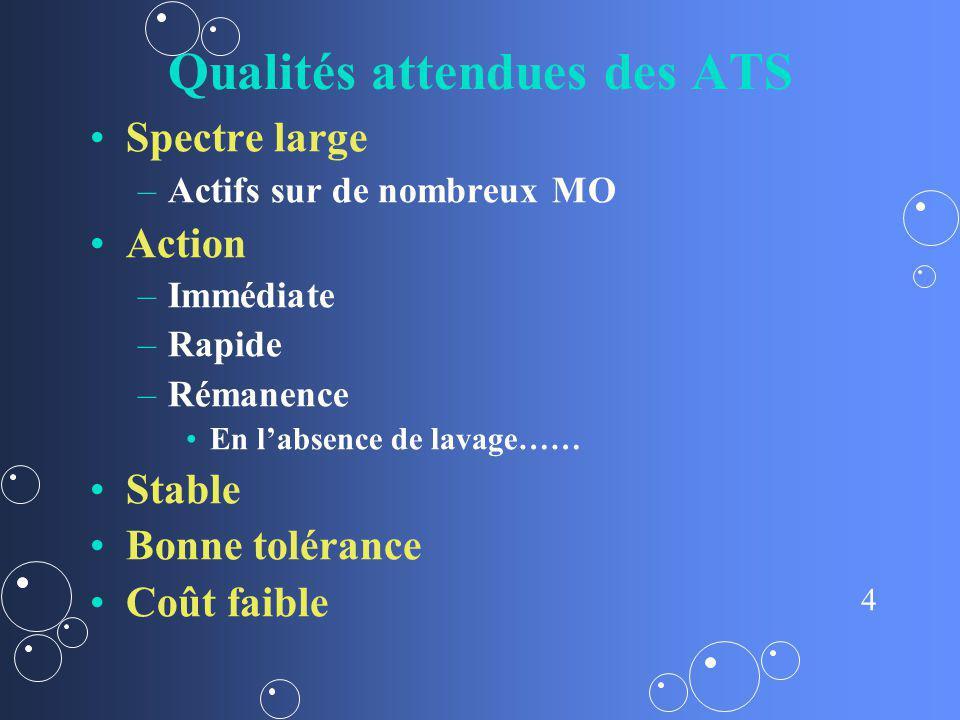 Qualités attendues des ATS