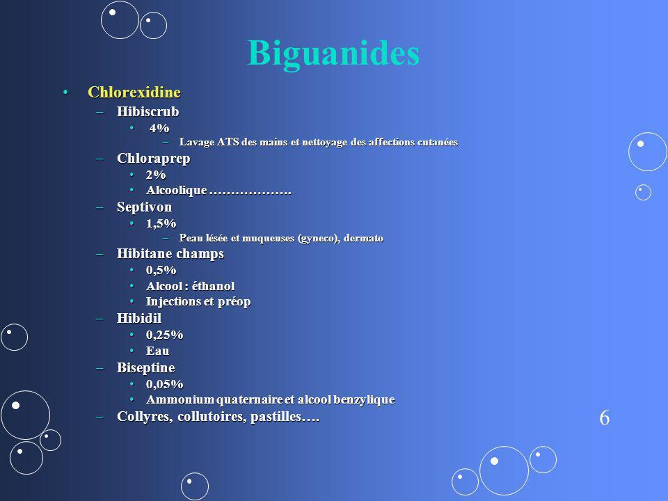 Biguanides Chlorexidine Hibiscrub Chloraprep Septivon Hibitane champs