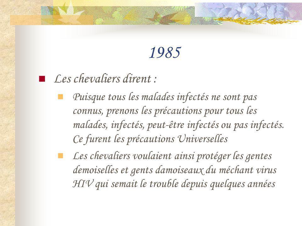 1985 Les chevaliers dirent :