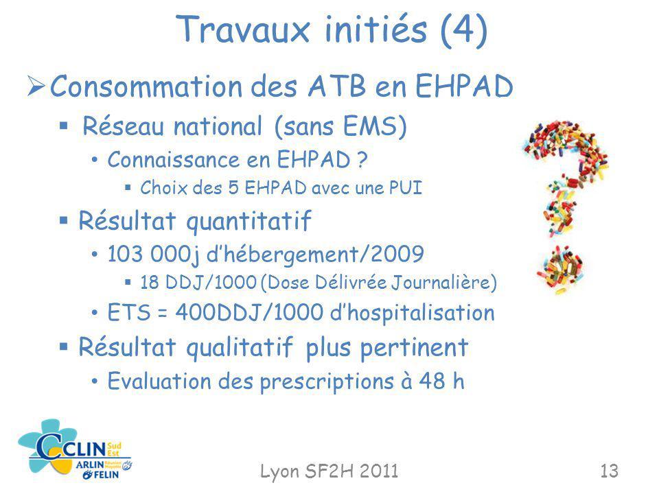 Travaux initiés (4) Consommation des ATB en EHPAD