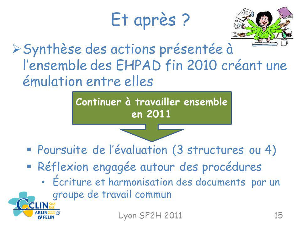 Continuer à travailler ensemble en 2011