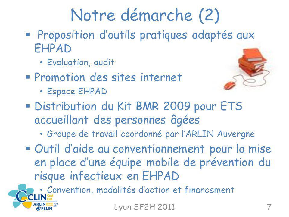 Notre démarche (2) Proposition d'outils pratiques adaptés aux EHPAD