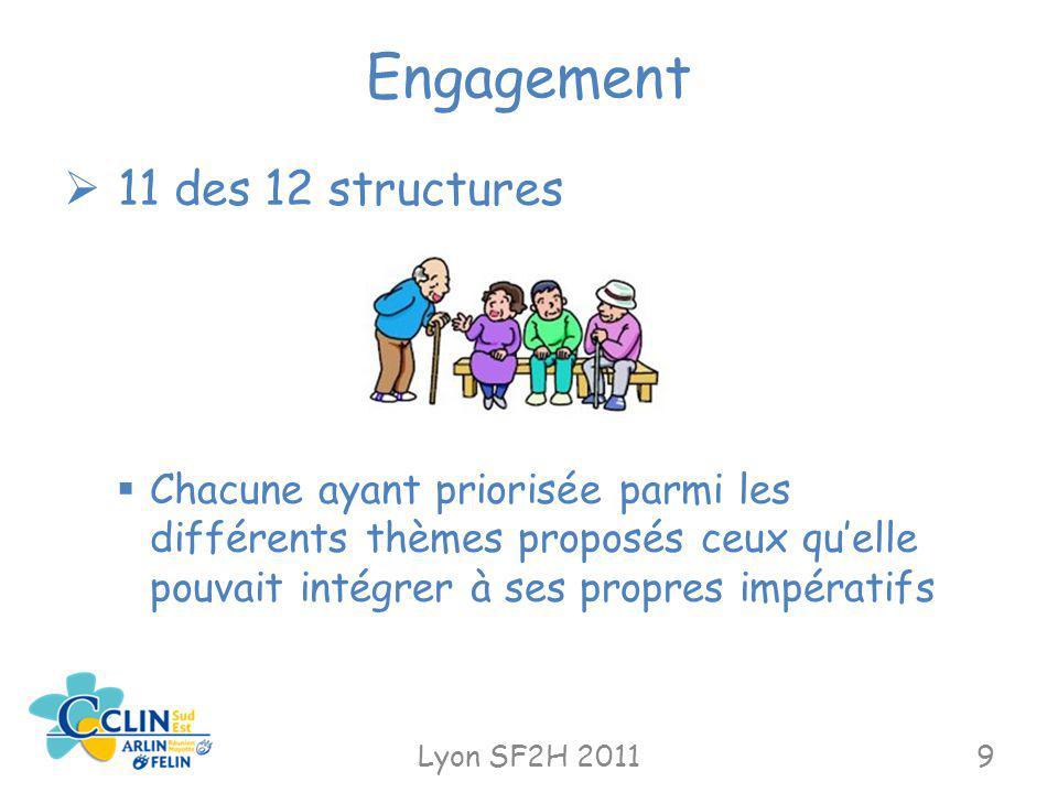 Engagement 11 des 12 structures