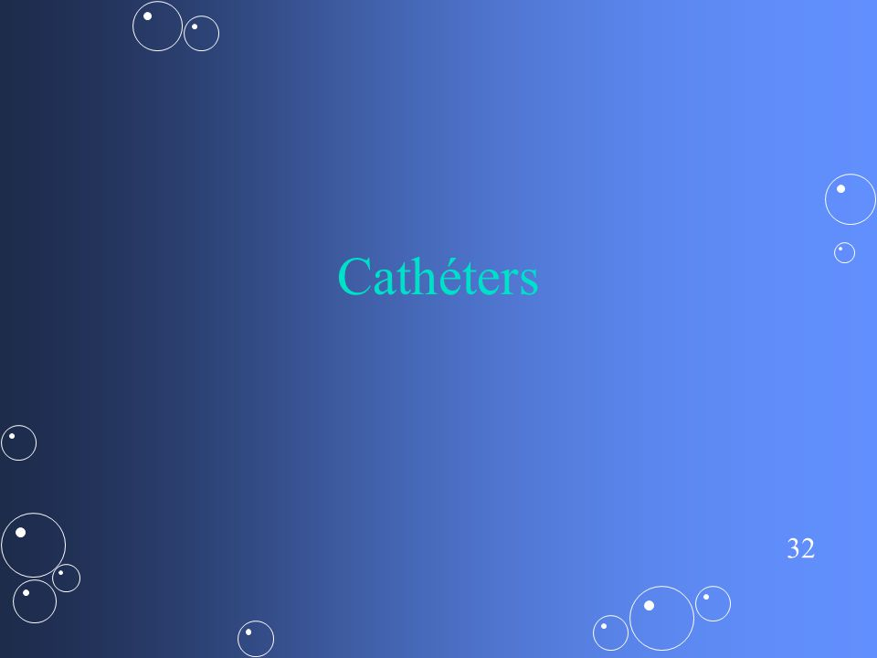 Cathéters