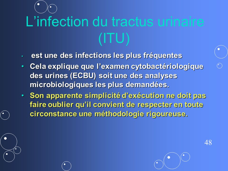 L'infection du tractus urinaire (ITU)