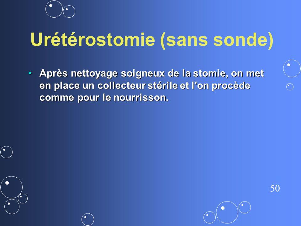 Urétérostomie (sans sonde)
