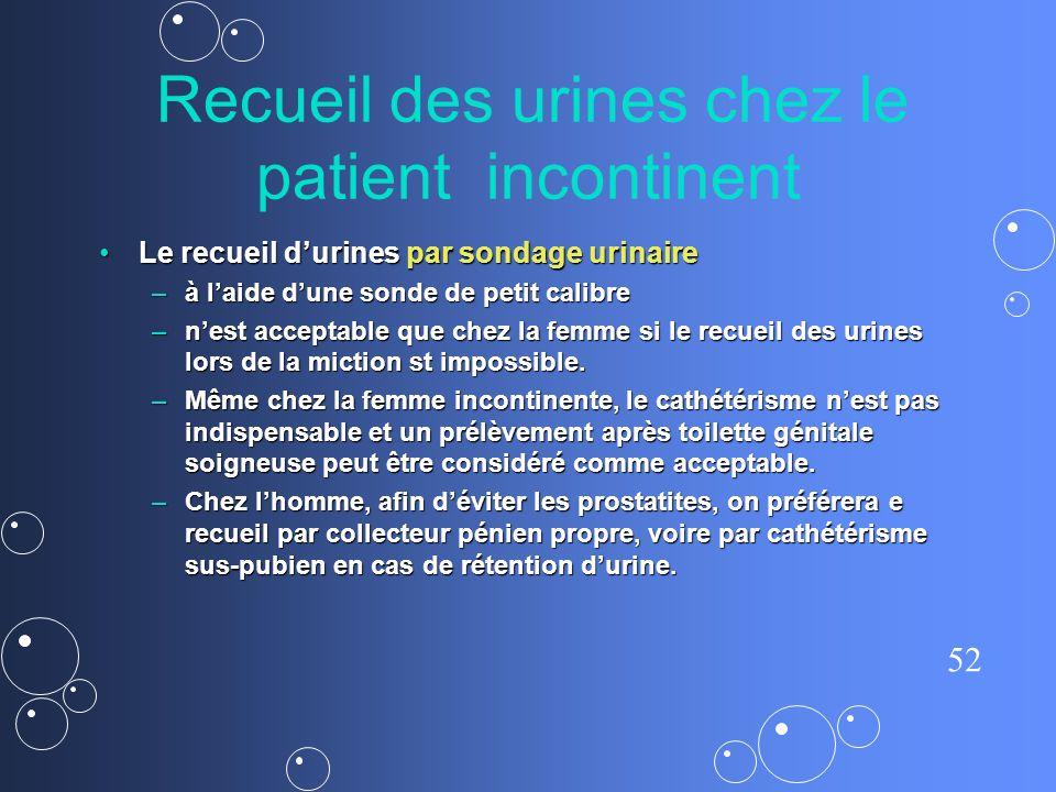 Recueil des urines chez le patient incontinent